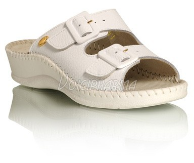 Scholl Chaussures Mules Week End Blanc