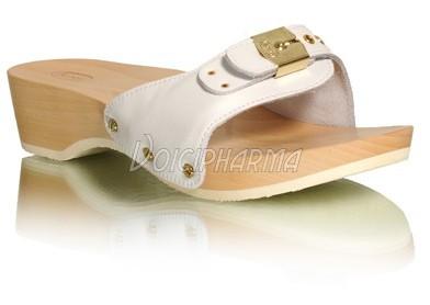e25ed1ae58256d Scholl Chaussures Mules Pescura Talon Blanc
