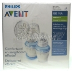 Avent ISIS VIA Tire-Lait + 5 Pots de Conservation VIA