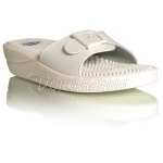 Scholl Chaussures Mules Fitness Massage Blanc