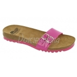 Scholl Chaussures Mules Snake Fuchsia